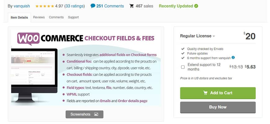 WooCommerce Checkout Field and Fees